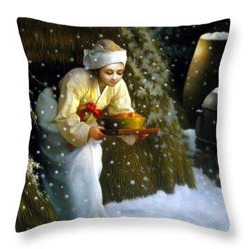 Korean Kimch Throw Pillow
