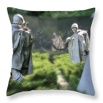 Korean Memorial Throw Pillow by Lorella Schoales
