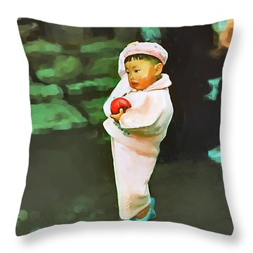 Korean Pink Throw Pillow