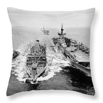 Korean War: Ship Refueling Throw Pillow by Granger
