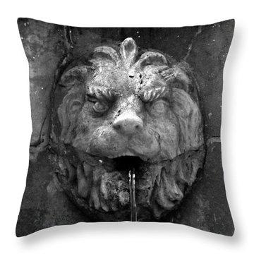 Koreshans Lion Throw Pillow by David Lee Thompson