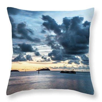 Kota Kinabalu Sunset Throw Pillow