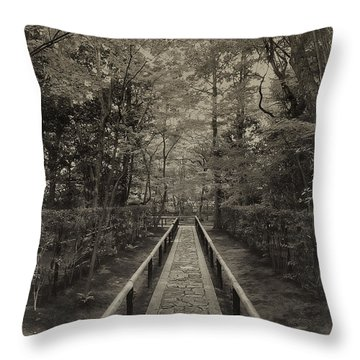 Koto-in Zen Temple Forest Path - Kyoto Japan Throw Pillow