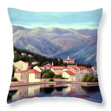 Kotor Montenegro Throw Pillow