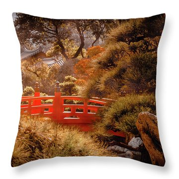Kowloon - Red Bridge Throw Pillow