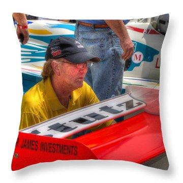 Kraig Johnson Driver Mechanic Raconteur Throw Pillow