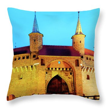 Throw Pillow featuring the photograph Krakow Barbican by Fabrizio Troiani