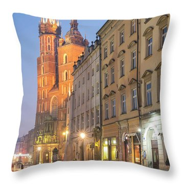Throw Pillow featuring the photograph Krakow by Juli Scalzi