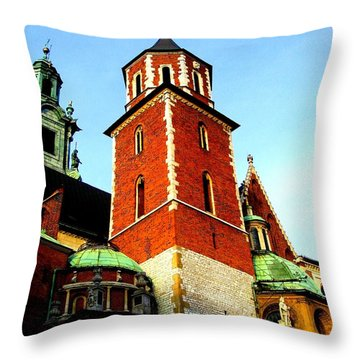 Throw Pillow featuring the photograph Krakow Poland by Michelle Dallocchio