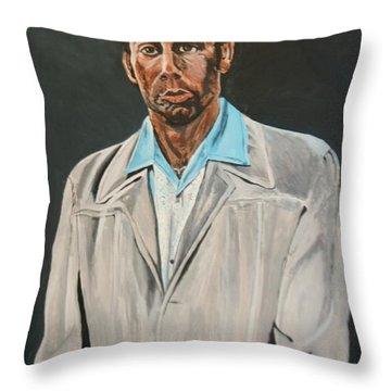 Kramer After Unknown Artist Throw Pillow by Betty-Anne McDonald