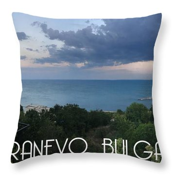 Kranevo Bulgaria Throw Pillow