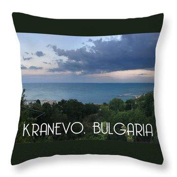 Kranevo Bulgaria Throw Pillow