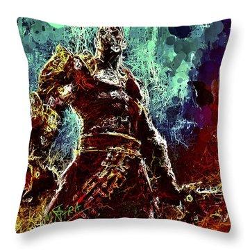Kratos Throw Pillow