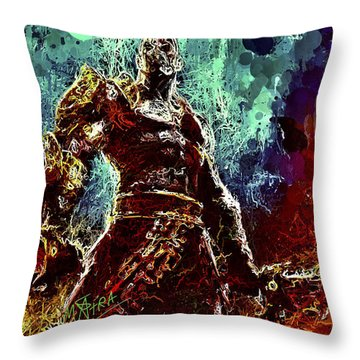 Kratos Throw Pillow