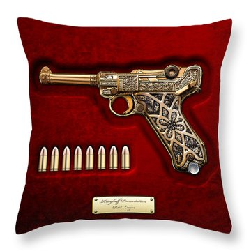 Krieghoff Presentation P.08 Luger  Throw Pillow