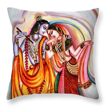 Krishna And Radha Throw Pillow