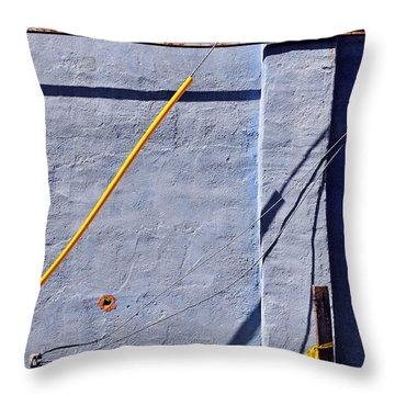 Krishna Blue Throw Pillow by Skip Hunt