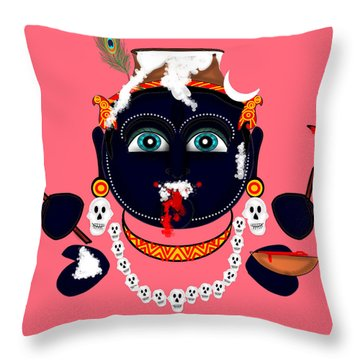 Krishna Kali Throw Pillow