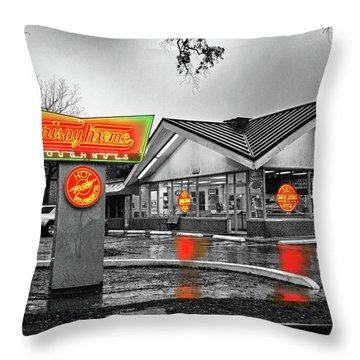 Krispy Kreme Throw Pillow by Michael Thomas