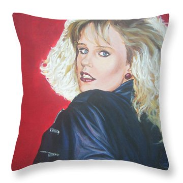 Throw Pillow featuring the painting Kristi Sommers by Bryan Bustard
