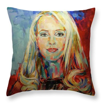 Kristina Bach Throw Pillow by Koro Arandia