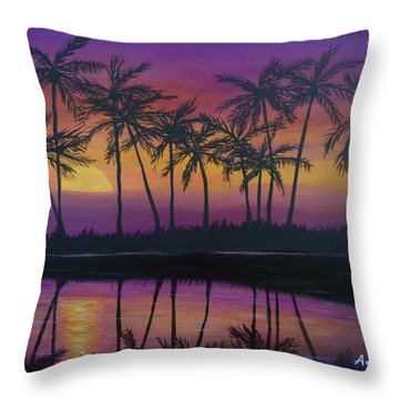Kristine's Sunset Throw Pillow