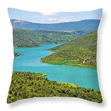 Krka River National Park View Throw Pillow by Brch Photography