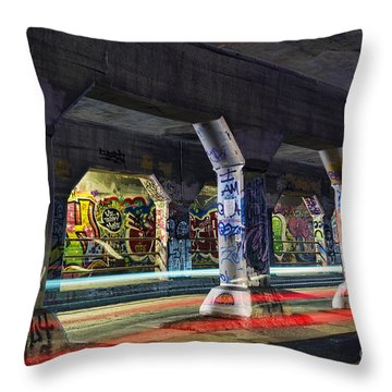 Krog Street Tunnel Throw Pillow