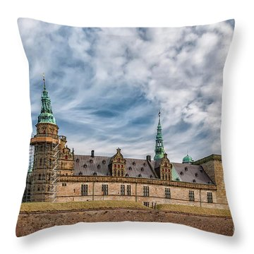 Throw Pillow featuring the photograph Kronborg Castle In Denmark by Antony McAulay