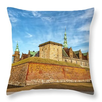 Throw Pillow featuring the photograph Kronborgsslott In Helsingor by Antony McAulay