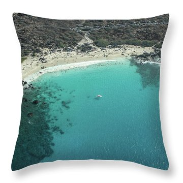 Kua Bay Aerial Throw Pillow