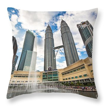 Kuala Lumpur Petronas Towers Throw Pillow