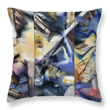 Kuan Answers According To A. W. Watts Throw Pillow