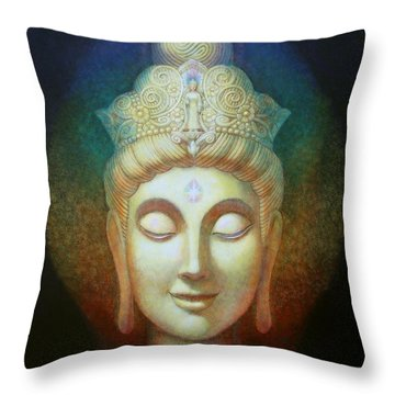 Kuan Yin's Light Throw Pillow