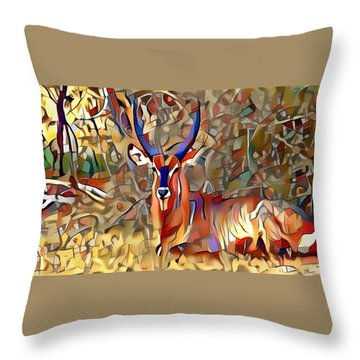 Kudu Throw Pillow