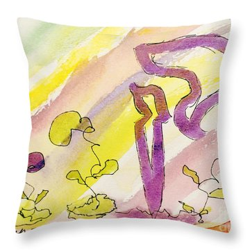 Kuf And Flowers Throw Pillow