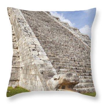 Throw Pillow featuring the photograph Kukulkan Pyramid At Chichen Itza by Bryan Mullennix