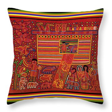 Kuna Indian Ark Throw Pillow