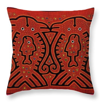 Kuna Indian Skate Fish Throw Pillow