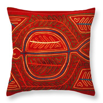 Kuna Indian Stingray Mola Throw Pillow