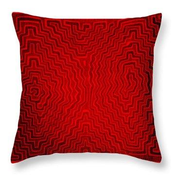Throw Pillow featuring the digital art Kuna Indian Sun Heat Rays by Vagabond Folk Art - Virginia Vivier