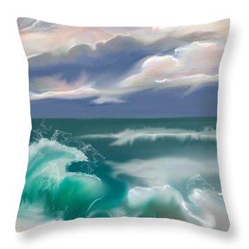 Kure Beach Throw Pillow