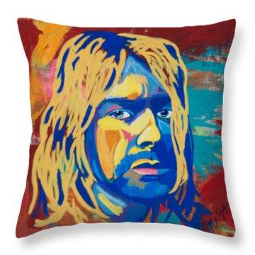 Kurt Cobain  Throw Pillow