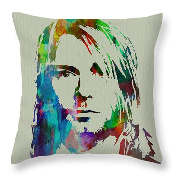 Grunge Music Throw Pillows
