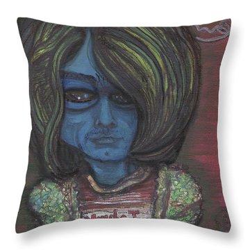 Kurt Cobalien Throw Pillow