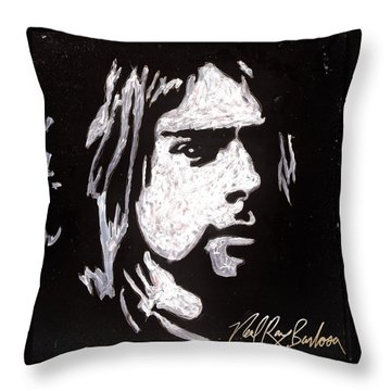 Kurt Kobain Throw Pillow