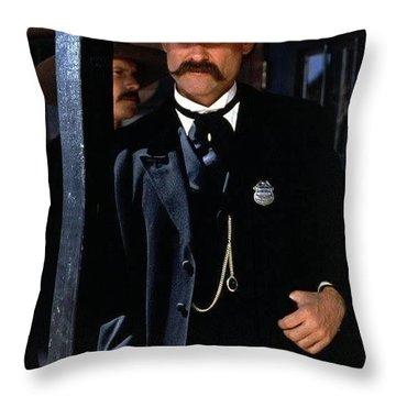 Kurt Russell As Wyatt Earp Tombstone Arizona 1993-2015 Throw Pillow