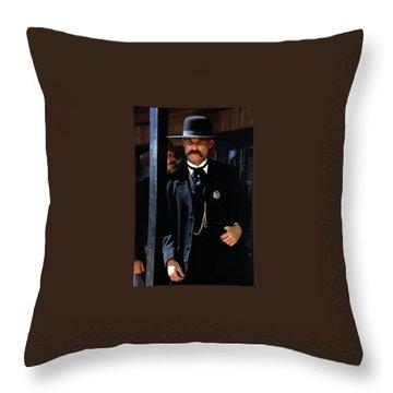 Kurt Russell As Wyatt Earp Tombstone Arizona 1993-2015 Throw Pillow by David Lee Guss