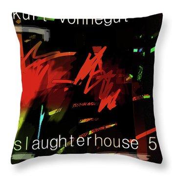 Kurt Vonnegut Poster  Throw Pillow