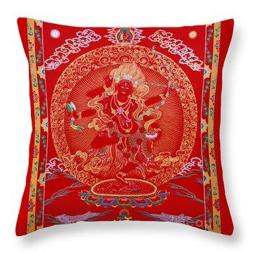 Kurukulle Devi Throw Pillow by Sergey Noskov